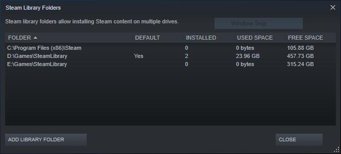 Thêm thư mục cài games cho Steam trên cùng một ổ đĩa 1