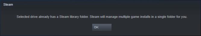 Thêm thư mục cài games cho Steam trên cùng một ổ đĩa 2