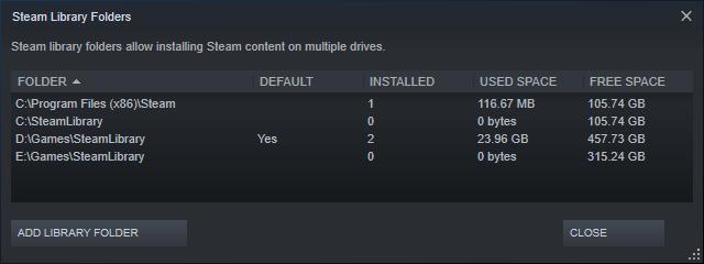 Thêm thư mục cài games cho Steam trên cùng một ổ đĩa 6